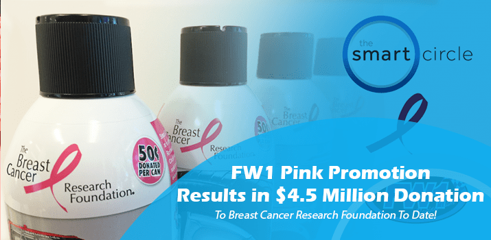$4,000,000 Donated to Breast Cancer Research through the FW1 Pink Promotion