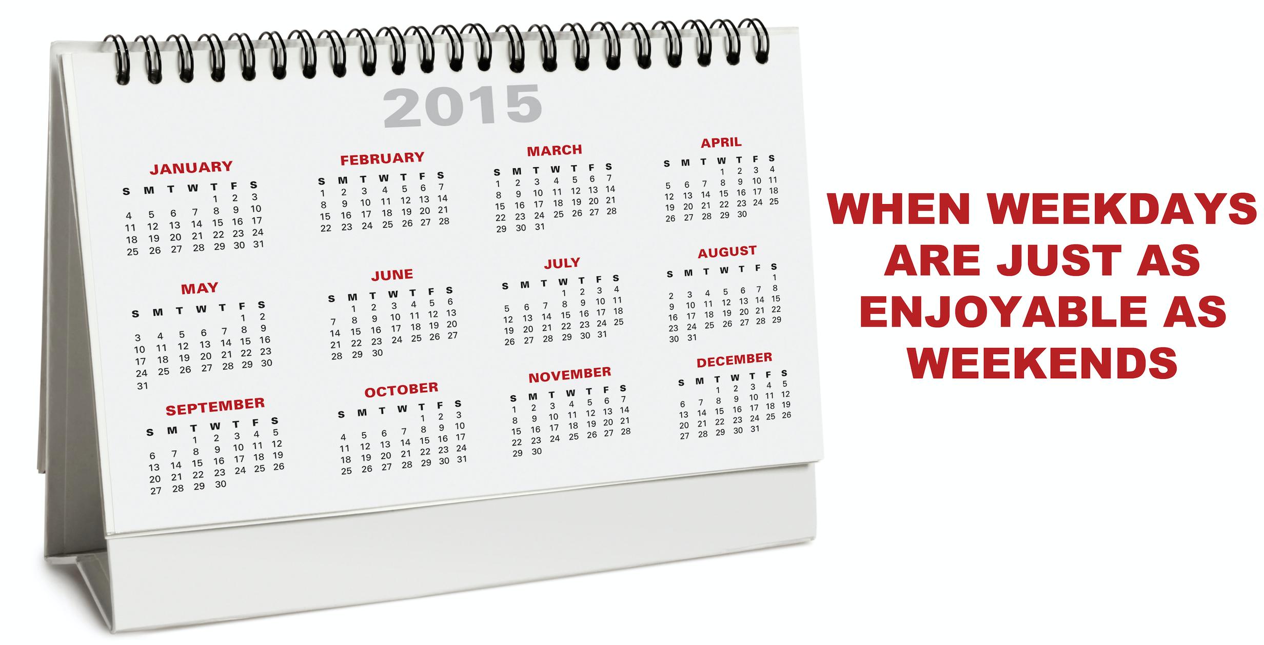 Smart Circle Weekday calendar
