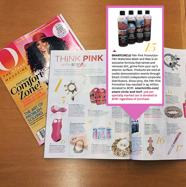 Smart Circle & FW1 Pink Promotion in O, The Oprah Magazine