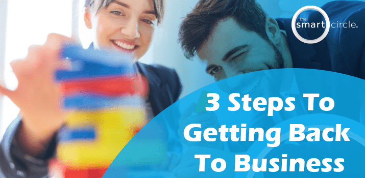 3 Steps To Getting Back To Business